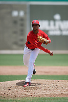 GCL Red Sox starting pitcher Yasel Santana (61) delivers a pitch during a game against the GCL Orioles on August 9, 2018 at JetBlue Park in Fort Myers, Florida.  GCL Red Sox defeated GCL Orioles 10-4.  (Mike Janes/Four Seam Images)