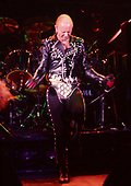 JUDAS PRIEST - Rob Halford - performing live on the Mercenaries of Metal Tour at the Odeon Hammersmith in London UK - 13 Jun 1988.  Photo credit: