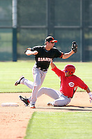 Nick Noonan - San Francisco Giants 2010 minor league spring training..Photo by:  Bill Mitchell/Four Seam Images.
