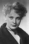 Алла Дмитриевна Ларионова — советская актриса театра и кино. 1956 год. / Alla Larionova - soviet movie actress. 1956
