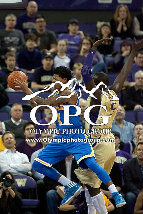 Feb 2, 2012:  UCLA's #1 Tyler Lamb against Washington.  Washington defeated UCLA 71-69 at Alaska Airlines Arena Seattle, Washington...