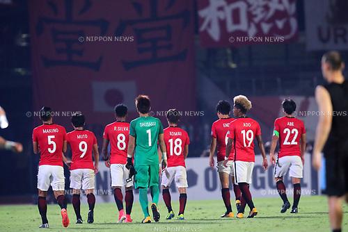 Urawa Reds team group (Reds), <br /> AUGUST 23, 2017 - Football / Soccer : <br /> AFC Champions League 2017 Quarter-final 1st leg <br /> match between Kawasaki Frontale *-* Urawa Reds <br /> at Kawasaki Todoroki Stadium, Kanagawa, Japan. <br /> (Photo by Naoki Nishimura/AFLO SPORT)
