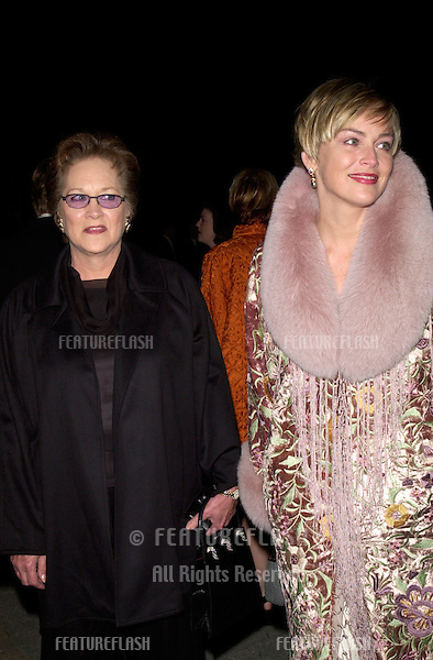 19FEB2000:  Actress SHARON STONE & mother at the Human Rights Campaign Gala, in Los Angeles, where she was honored with the Humanitarian Award..© Paul Smith / Featureflash