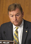 """United States Senator Dean Heller (Republican of Nevada) questions a witness during a US Senate Committee on Finance hearing on """"Individual Tax Reform"""" on Capitol Hill in Washington, DC on Thursday, September 14, 2017.<br /> Credit: Ron Sachs / CNP"""