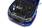 Car stock 2015 Audi S3 Premium Plus 4 Door Sedan engine high angle detail view