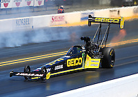 Jul. 26, 2014; Sonoma, CA, USA; NHRA top fuel driver Richie Crampton during qualifying for the Sonoma Nationals at Sonoma Raceway. Mandatory Credit: Mark J. Rebilas-