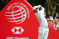 Rory McIlroy (NIR) on the 3rd tee during the 3rd round of the WGC HSBC Champions, Sheshan Golf Club, Shanghai, China. 02/11/2019.<br /> Picture Fran Caffrey / Golffile.ie<br /> <br /> All photo usage must carry mandatory copyright credit (© Golffile | Fran Caffrey)
