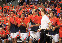 Virginia team bench during the game Jan. 22, 2015, in Charlottesville, Va. Virginia defeated Georgia Tech 57-28.