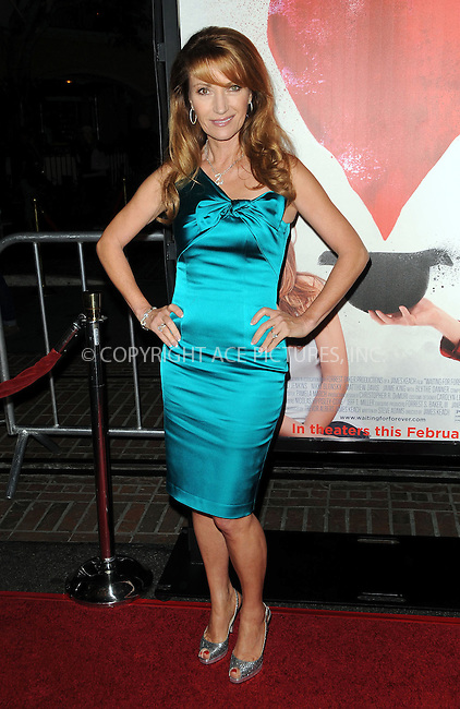 WWW.ACEPIXS.COM . . . . . ....February 1 2011, Los Angeles....Executive Producer Jane Seymour arriving at the Los Angeles Premiere of 'Waiting For Forever' at the Pacific Theatres at The Grove on February 1, 2011 in Los Angeles, CA ....Please byline: PETER WEST - ACEPIXS.COM....Ace Pictures, Inc:  ..(212) 243-8787 or (646) 679 0430..e-mail: picturedesk@acepixs.com..web: http://www.acepixs.com