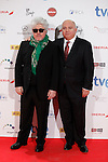 Director Pedro Almodovar (L) attends Jose Maria Forque Awards photocall at Municipal Congress Palace in Madrid, Spain. January 13, 2014. (ALTERPHOTOS/Victor Blanco)