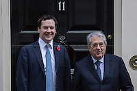 04.11.2013 - The Italian Minister of Economy and Finances visit 11 Downing Street