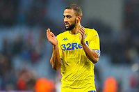 Leeds United's Kemar Roofe celebrates after the final whistle<br /> <br /> Photographer Alex Dodd/CameraSport<br /> <br /> The EFL Sky Bet Championship - Aston Villa v Leeds United - Sunday 23rd December 2018 - Villa Park - Birmingham<br /> <br /> World Copyright &copy; 2018 CameraSport. All rights reserved. 43 Linden Ave. Countesthorpe. Leicester. England. LE8 5PG - Tel: +44 (0) 116 277 4147 - admin@camerasport.com - www.camerasport.com