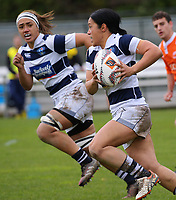 Tiana Ngawati in action during the Farah Palmer Cup women's provincial rugby match between Wellington Pride  and Auckland at Jerry Collins Stadium / Porirua Park, Wellington, New Zealand on Saturday, 23 September 2017. Photo: Dave Lintott / lintottphoto.co.nz