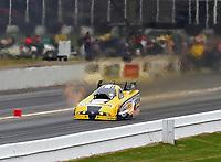 May 5, 2018; Commerce, GA, USA; NHRA funny car driver Jonnie Lindberg during qualifying for the Southern Nationals at Atlanta Dragway. Mandatory Credit: Mark J. Rebilas-USA TODAY Sports