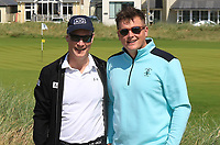Aiden Connaughton (Sponsor: AIG) with James Sugrue (Mallow) at the 4th during the Final of the AIG Irish Amateur Close Championship 2019 in Ballybunion Golf Club, Ballybunion, Co. Kerry on Wednesday 7th August 2019.<br /> <br /> Picture:  Thos Caffrey / www.golffile.ie<br /> <br /> All photos usage must carry mandatory copyright credit (© Golffile | Thos Caffrey)