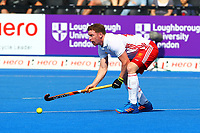 England's Michael Hoare in action  during the Hockey World League Semi-Final Pool A match between England and Malaysia at the Olympic Park, London, England on 17 June 2017. Photo by Steve McCarthy.