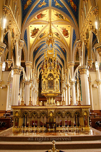 Oct. 29, 2008; South Bend, IN - Basilica of the Sacred Heart at the University of Notre Dame...Photo credit: Darrell Miho