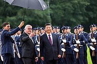 Frank-Walter Steinmeier und Xi Jinping beim Empfang des Staatspräsidenten der Volksrepublik China Jinping im Schloss Bellevue. Berlin, 05.07.2017