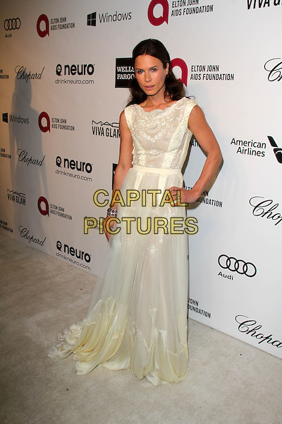 WEST HOLLYWOOD, CA - March 02: Rhona Mitra at the 22nd Annual Elton John AIDS Foundation Oscar Viewing Party, Private Location, West Hollywood,  March 02, 2014.  <br /> CAP/MPI/JO<br /> &copy;Janice Ogata/MediaPunch/Capital Pictures