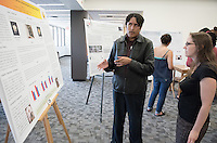 "Gabriel Flores, visiting student, presents ""Organization of Eating in Female Rats Selectively Bred on a Sweetener Phenotype""<br /> Occidental College's Undergraduate Research Center hosts their annual Summer Research Conference on Aug. 4, 2016. Student researchers presented their work as either oral or poster presentations at the final conference. The program lasts 10 weeks and involves independent research in all departments.<br /> (Photo by Marc Campos, Occidental College Photographer)"