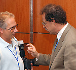 Dave Pokress and Howie Schneider, seen at the retirement Celebration for Tony Marro held at Melville Office of Newsday on Tuesday, August 12, 2003. (Photo / Jim Peppler).