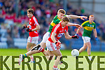 Tommy Walsh Kerry in action against Stephen O'Donoghue Cork in the National Football League at Pairc Ui Rinn, Cork on Sunday.