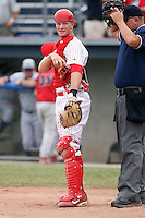 July 9th, 2007:  David Carpenter of the Batavia Muckdogs, Short-Season Class-A affiliate of the St. Louis Cardinals at Dwyer Stadium in Batavia, NY.  Photo by:  Mike Janes/Four Seam Images