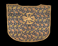BNPS.co.uk (01202 558833)<br /> Pic: IndarPasricha/BNPS<br /> <br /> Ornate 'antependium' with a Maltese cross in gold.<br /> <br /> From High Fashion to the High Church...<br /> <br /> An incredible collection of 17th century ecclesiastical textiles, that actually started life as luxury fashion worn by the aristocratic women of the day, has emerged for sale.<br /> <br /> The historically important ensemble highlights a golden moment in European textile production dating from 1690 to 1720 when free reign was given to intricate dress designs in gold and silk that was soon adopted by the senior members of the church to adorn they're otherwise plain vestments.<br /> <br /> The valuable collection, assembled over two decades, is now being sold with prices ranging from &pound;5,000 all the way to &pound;1m.