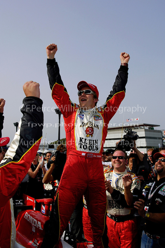 28-30 April, 2005 Twin Ring Motegi, Japan .Winner Dan Wheldon celebrates..Copyright©F.Peirce Williams 2005.  ref.Digital Image Only..F. Peirce Williams .photography.P.O.Box 455 Eaton, OH 45320.p: 317.358.7326  e: fpwp@mac.com.