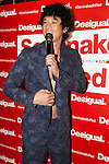 Japanese singer and comedian Tomoharu Shoji attends the ''Seminaked in Red'' event at Desigual Harajuku store on June 27, 2015, Tokyo, Japan. Spanish fashion label's promotional event offered the first 100 participants who arrived wearing swimsuits a discount on all in store items. According to the organizers around 100 people lined up over night despite the heavy rain. (Photo by Rodrigo Reyes Marin/AFLO)