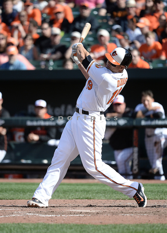 Baltimore Orioles Chris Davis (19) during a game against the Toronto Blue Jays on April 12, 2015 at Oriole Park in Baltimore, MD. The Blue Jays beat the Orioles 10-7.