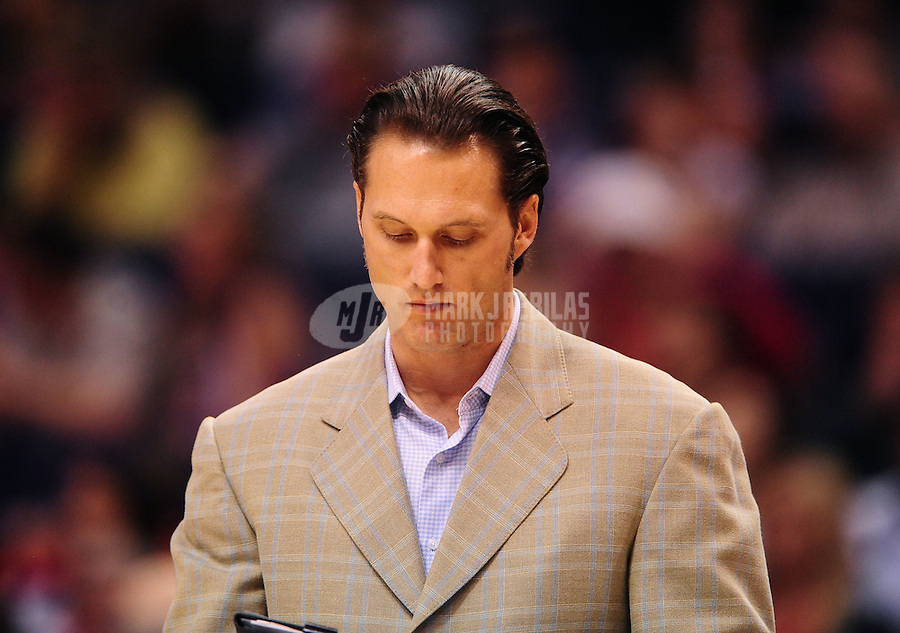 Jan. 28, 2012; Phoenix, AZ, USA; Memphis Grizzlies assistant coach XXXX against the Phoenix Suns at the US Airways Center. The Suns defeated the Grizzlies 86-84. Mandatory Credit: Mark J. Rebilas-USA TODAY Sports
