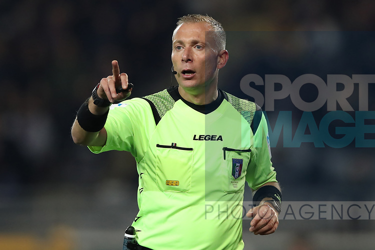 The referee Paolo Valeri during the Serie A match at Stadio Grande Torino, Turin. Picture date: 8th February 2020. Picture credit should read: Jonathan Moscrop/Sportimage
