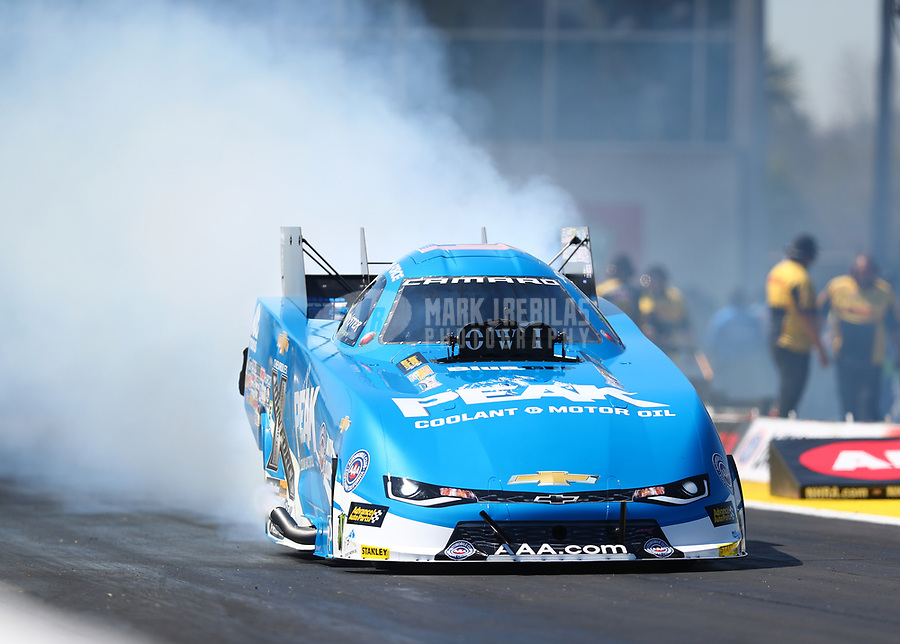 Mar 17, 2017; Gainesville , FL, USA; NHRA funny car driver John Force during qualifying for the Gatornationals at Gainesville Raceway. Mandatory Credit: Mark J. Rebilas-USA TODAY Sports