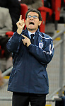 England manager Fabio Capello shouts from the touchline during the Friendly International match at Wembley Stadium, London. Picture date 28th May 2008. Picture credit should read: Simon Bellis/Sportimage