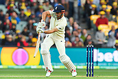 3rd December 2017, Adelaide Oval, Adelaide, Australia; The Ashes Series, Second Test, Day 2, Australia versus England; Alistair Cook of England hits the ball defensively down the ground