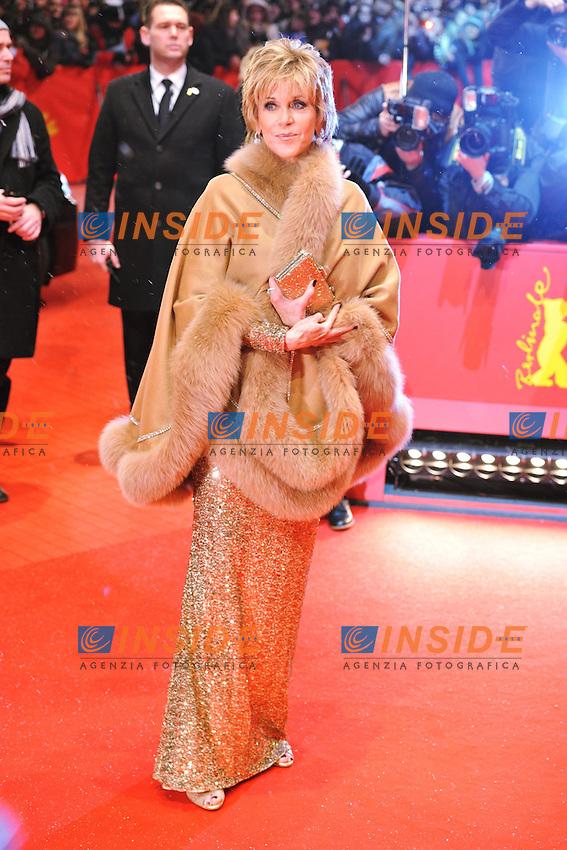 Jane Fonda. Berlin 08/02/2013. 63th Berlinale Opening Gala Red Carpet. foto Mark Cape/Insidefoto