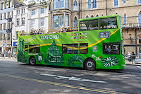UK, England, Oxford.  Double-decker Touring Bus.