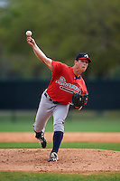 Atlanta Braves Lucas Sims (20) during an intrasquad Spring Training game on March 25, 2016 at ESPN Wide World of Sports Complex in Orlando, Florida.  (Mike Janes/Four Seam Images)