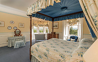 BNPS.co.uk (01202 558833)<br /> Pic: BellIngram/BNPS<br /> <br /> One of the 16 bedrooms.<br /> <br /> A magnificient Scottish castle which comes with its own two islands is on the market for £3.75million.<br /> <br /> Glenborrodale Castle is situated on the southern shore of the picturesque Ardnamurchan Peninsula in the remote Highlands. <br /> <br /> The baronial mansion dates from 1902 and is built from distinctive red Dumfriesshire sandstone.<br /> <br /> It boasts 133 acres of land taking in the idyllic uninhabited isles of Risga and Eileam an Feidh.<br /> <br /> The larger of the two, Risga, spans 30 acres and is in the centre of Loch Sunart, 800 yards from the north shore