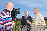 CAPTAINS DVD: Christy Riordan (left) and Weeshie Fogarty (right) put the questions to Jimmy Deenihan for their new DVD on Kerry's All-Ireland winning captains.