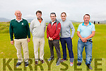 Pictured at the Captains Prize in Waterville on Saturday were l-r; Aidan McAuliffe, Aidan O'Connell, John O'Neill Captain WGC, Gary Galvin & Gerard Curran.  1st Eamon McGillicuddy(16) 37pts, 2nd Séamus O'Sullivan(8) 37pts & 3rd Ché Flaherty(10) 37pts.