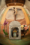 Altar and shrine, Mission San Juan Baptista, Calif.