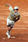 Yukiko Ueno (JPN), <br /> AUGUST 24, 2018 - Softball : <br /> Women's Final match <br /> between Japan - Chinese Taipei <br /> at Gelora Bung Karno Softball field <br /> during the 2018 Jakarta Palembang Asian Games <br /> in Jakarta, Indonesia. <br /> (Photo by Naoki Nishimura/AFLO SPORT)
