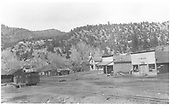 Early view of Placerville businesses.<br /> Placerville, CO