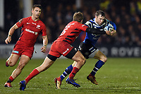 Will Chudley of Bath Rugby takes on the Saracens defence. Gallagher Premiership match, between Bath Rugby and Saracens on March 8, 2019 at the Recreation Ground in Bath, England. Photo by: Patrick Khachfe / Onside Images