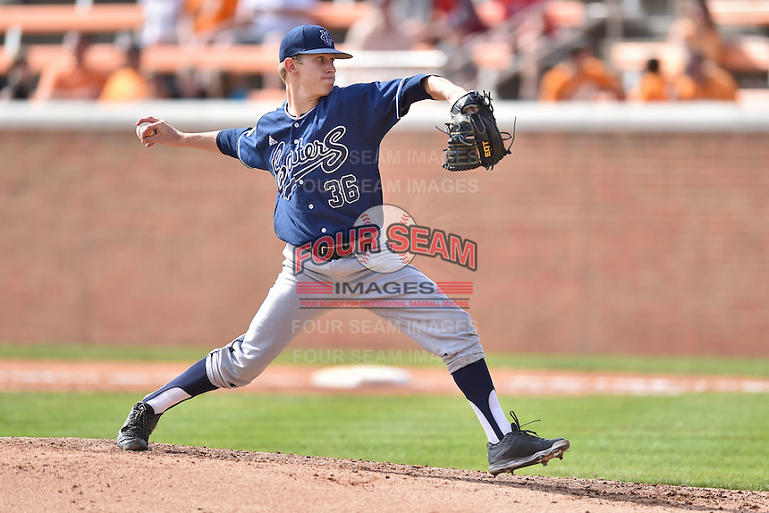 UC Irvine Anteaters pitcher Mitchell Miller (36) delivers a pitch during game one of a double header against the Tennessee Volunteers at Lindsey Nelson Stadium on March 12, 2016 in Knoxville, Tennessee. The Volunteers defeated the Anteaters 14-4. (Tony Farlow/Four Seam Images)