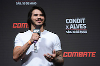 GOIÂNIA, GO, 29.05.2015 – UFC-GOIÂNIA – Érick Silva durante pesagem para o UFC Goiânia no Goiânia Arena em Goiânia na tarde desta sexta-feira, 29. (Foto: Ricardo Botelho / Brazil Photo Press)