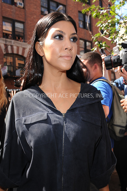 WWW.ACEPIXS.COM<br /> September 16, 2015 New York City<br />  <br /> Kourtney Kardashian arriving to attend Kanye West Fashion Show <br /> on September 16, 2015 in New York City.<br /> <br /> <br /> <br /> Credit: Kristin Callahan/ACE<br />  <br /> Tel: 646 769 0430<br /> Email: info@acepixs.com<br /> www.acepixs.com