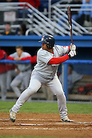 September 10 2008:  Ricardo Burgos of the Lowell Spinners, Class-A affiliate of the Boston Red Sox, during a game at Dwyer Stadium in Batavia, NY.  Photo by:  Mike Janes/Four Seam Images